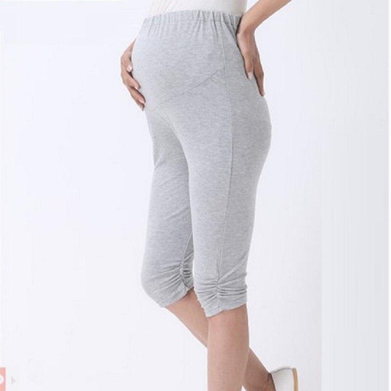 summer maternity pants capris modal three quarter trousers pregnant pants adjustable waist pants maternity leggings