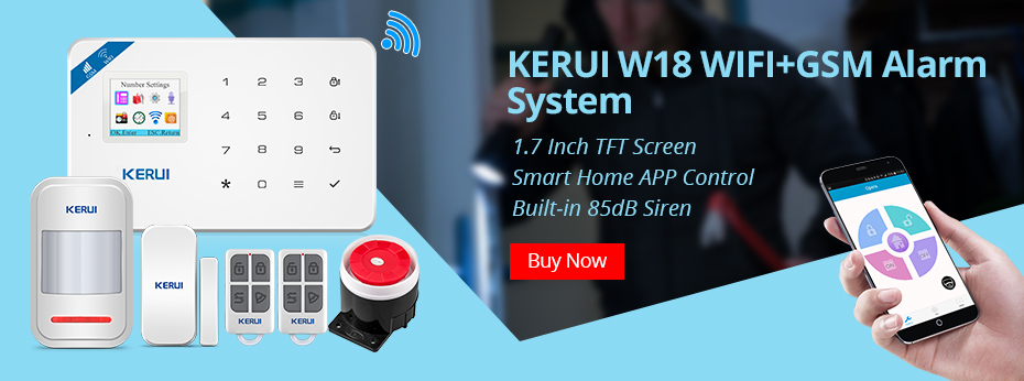 KERUI G18 Wireless Home GSM Security Alarm System DIY Kit APP Control With Auto Dial Motion Detector Sensor Burglar Alarm System 24