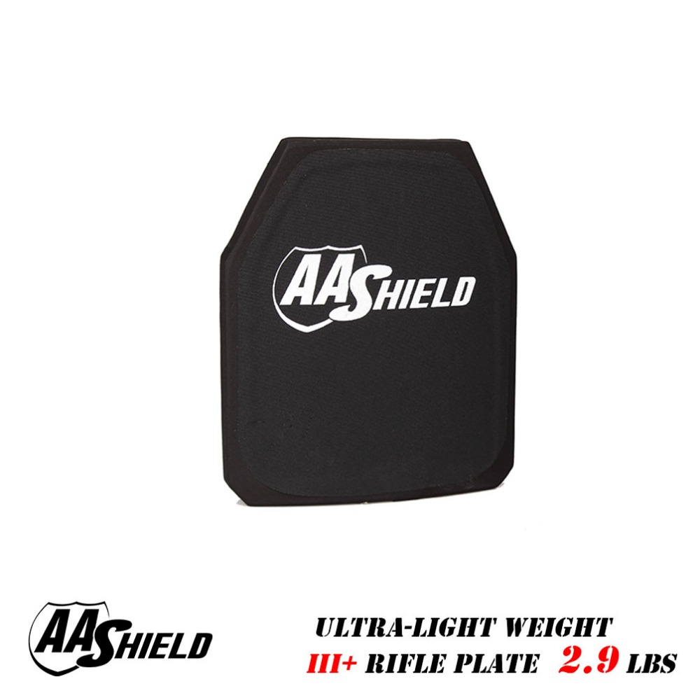 AA Shield III Rifle Plate Ultra Light Weight BulletProof Body Armor 9 5X11 5