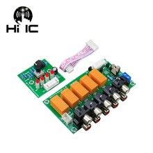 4 ingresso 1 Uscita Senza Perdita di Controllo del Relè Del Segnale Audio Switcher Selettore Box Suono HiFi Audio Splitter di Segnale Con La RCA