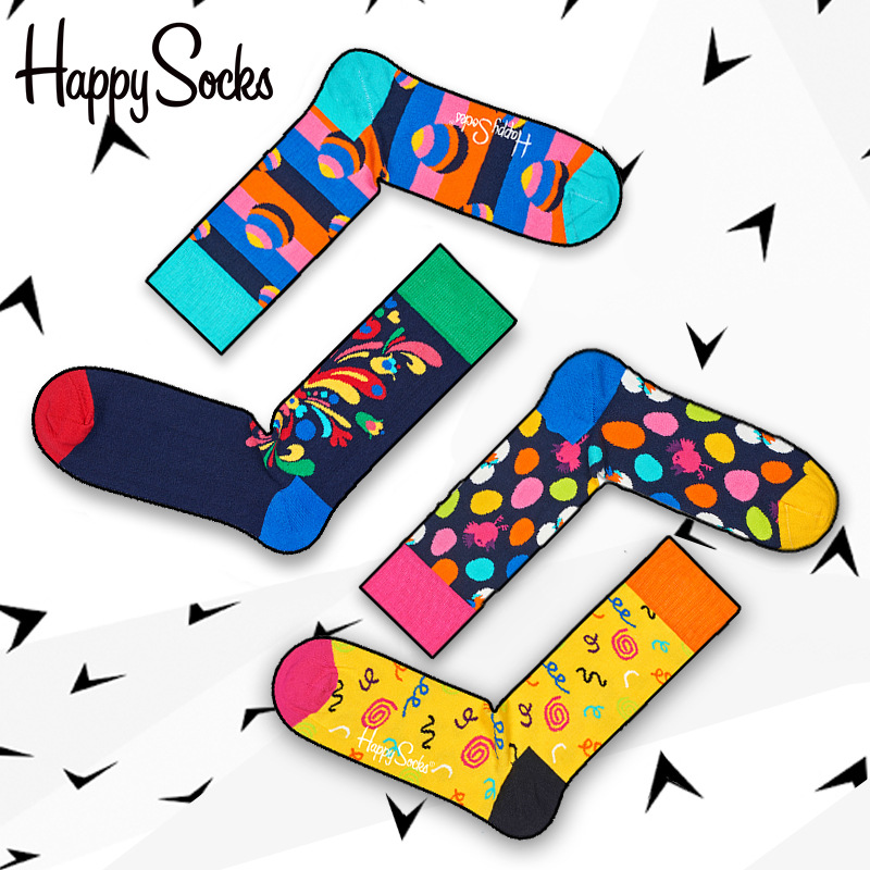 Happy Socks Swedish for men and women Exclusive custom limited edition cotton funny sock meias masculino calcetines divertidos