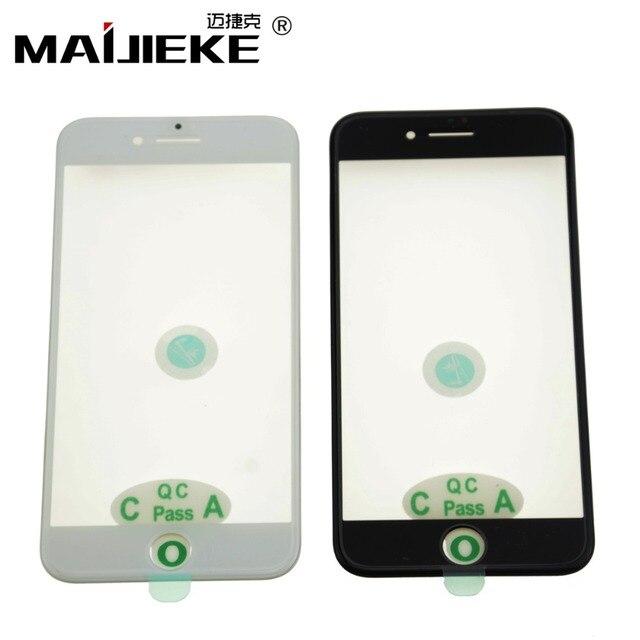 Pantalla de prensado en frío 3 en 1, cristal frontal + marco + película OCA para iphone XR, XS, X, 8 plus, 7, 6s, 6 plus, piezas de repuesto de vidrio 5s, 10 Uds.
