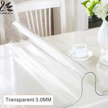 2017 hochzeit Öldicht Verkauf Rushed Moderne Dicke 3,0 Mm Pvc Transparente Tabelle Wasserdicht Öl Matten Weichglas Tischdecke Decor