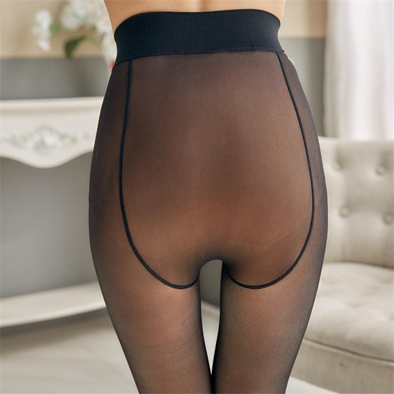NORMOV Autumn Winter Women Tight Solid High Elastic Waist Plus Velvet Skinny Pantyhose Warm Thick Femme Tight