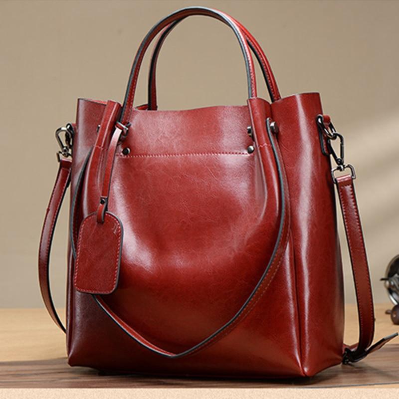 Bag female Women s 100 genuine leather bags handbags crossbody bags for women shoulder bags genuine