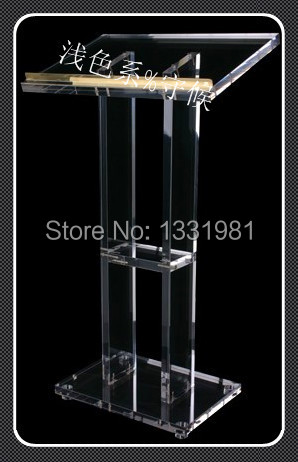 Hot Selling/Acrylic Lectern With Aluminum Stands, Acrylic Pulpit, Acrylic Podium