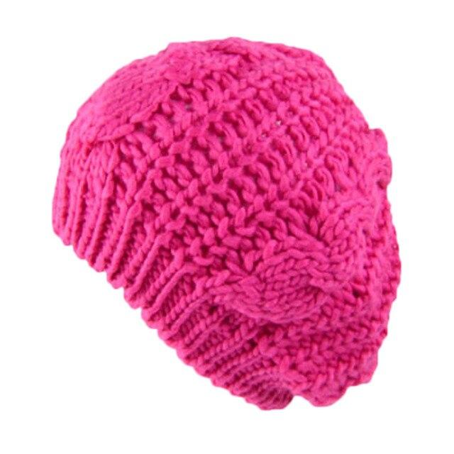 73b02377787e1 8 Cores Inverno Quente Malha Chapéu de Lã das Mulheres Da Menina do Menino  Cabo Malha