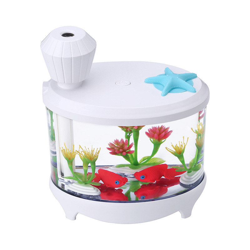 460ml USB Fish Tank Humidifiers LED Light Air Ultrasonic Humidifier  Essential Aroma Diffuser Mist Maker For Home Office Use