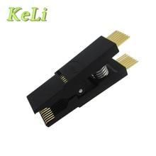 Novo 1 pçs/lote Testes Programador Clipe SOP16 SOP SOIC 16 SOIC16 DIP16 DIP 16 Pin IC Teste Grampo sem cabo