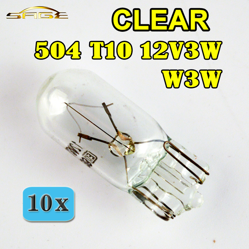 CAR 501 BULBS x10 SIDE REPEATER TAIL NUMBER PLATE LIGHT WEDGE CAPLESS T10 12V 5W
