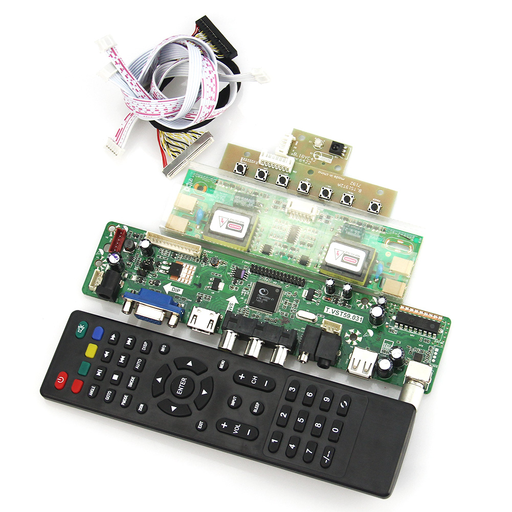 T.VST59.03(NOT V56) LCD/LED Controller Driver Board (TV+HDMI+VGA+CVBS+USB) For HT170EX1-101 LVDS Reuse Laptop 1280x1024 t v56 03 vga hdmi av audio usb tv lcd controller board for b154pw01 b154pw02 1440x900 ccfl lvds lcd ad board raspberry pi