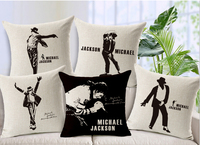 Lord Of The Dance Michael Jackson Thicken Cotton Linen Pillow Cover Sofa Cushion Cover High Quality