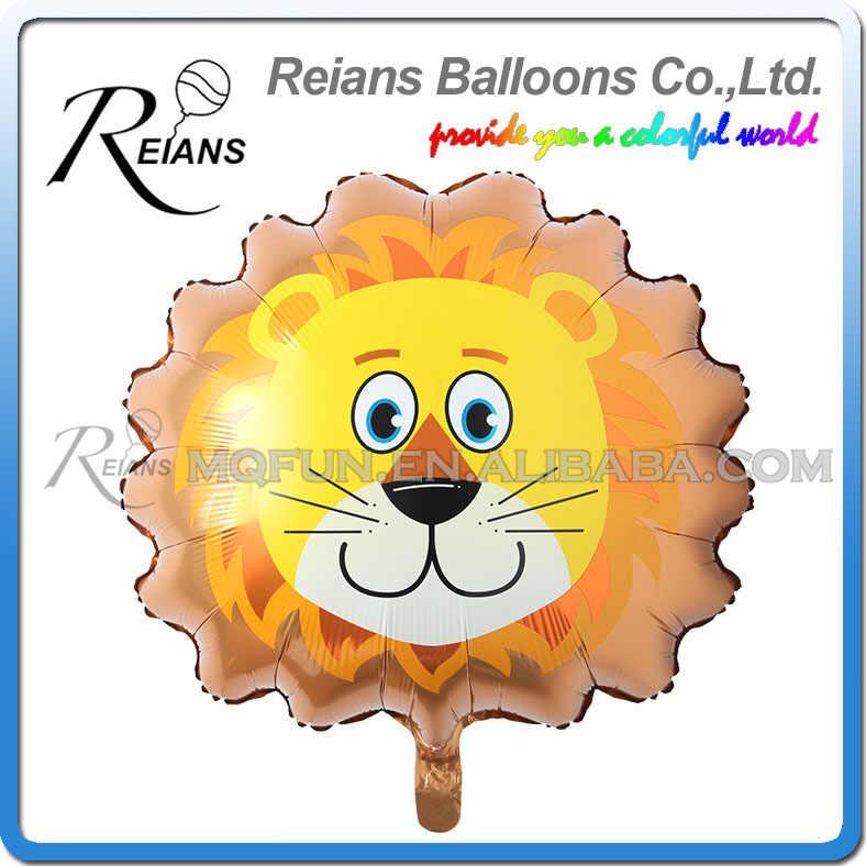 Atacado 200 pçs/lote Grande Macaco Tigre Zebra Veados Vaca Cabeça Hélio Foil Balões da Festa de Aniversário Balões de Ar Tema Animal de Partido