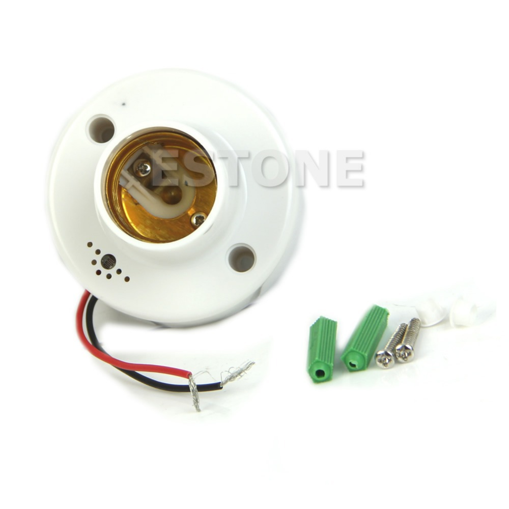 F85 Free Shipping E27 220V Lamp Holder Sound Voice Control Induction Light Bulb Switch Adapter