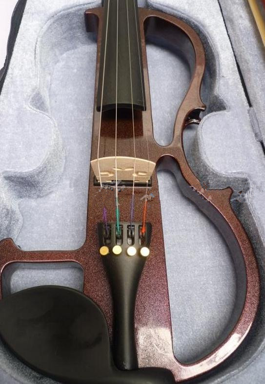 violin 4/4 High quality electric violin handcraft violino Musical Instruments violin Brazil Wood bow brand new handmade colorful electric acoustic violin violino 4 4 violin bow case perfect sound