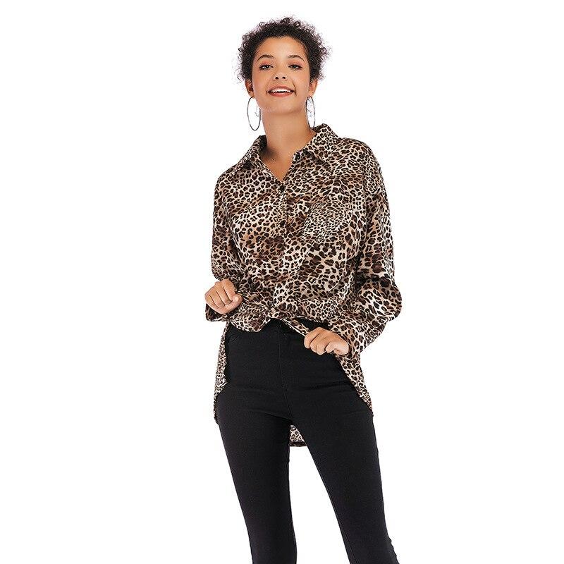 Informal Leopard Print Shirt Girls Lengthy Sleeve Vogue Chiffon Shirt Flip Down Collar Shirts Summer season Feminine Tops Lady Clothes Blouses & Shirts, Low cost Blouses & Shirts, Informal...