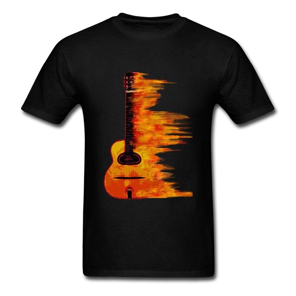 Personalised Tee Shirts Acoustic Jazz Guitar Two Custom Short Sleeve Boyfriend's Couple Leisure Tee Shirts Big Size