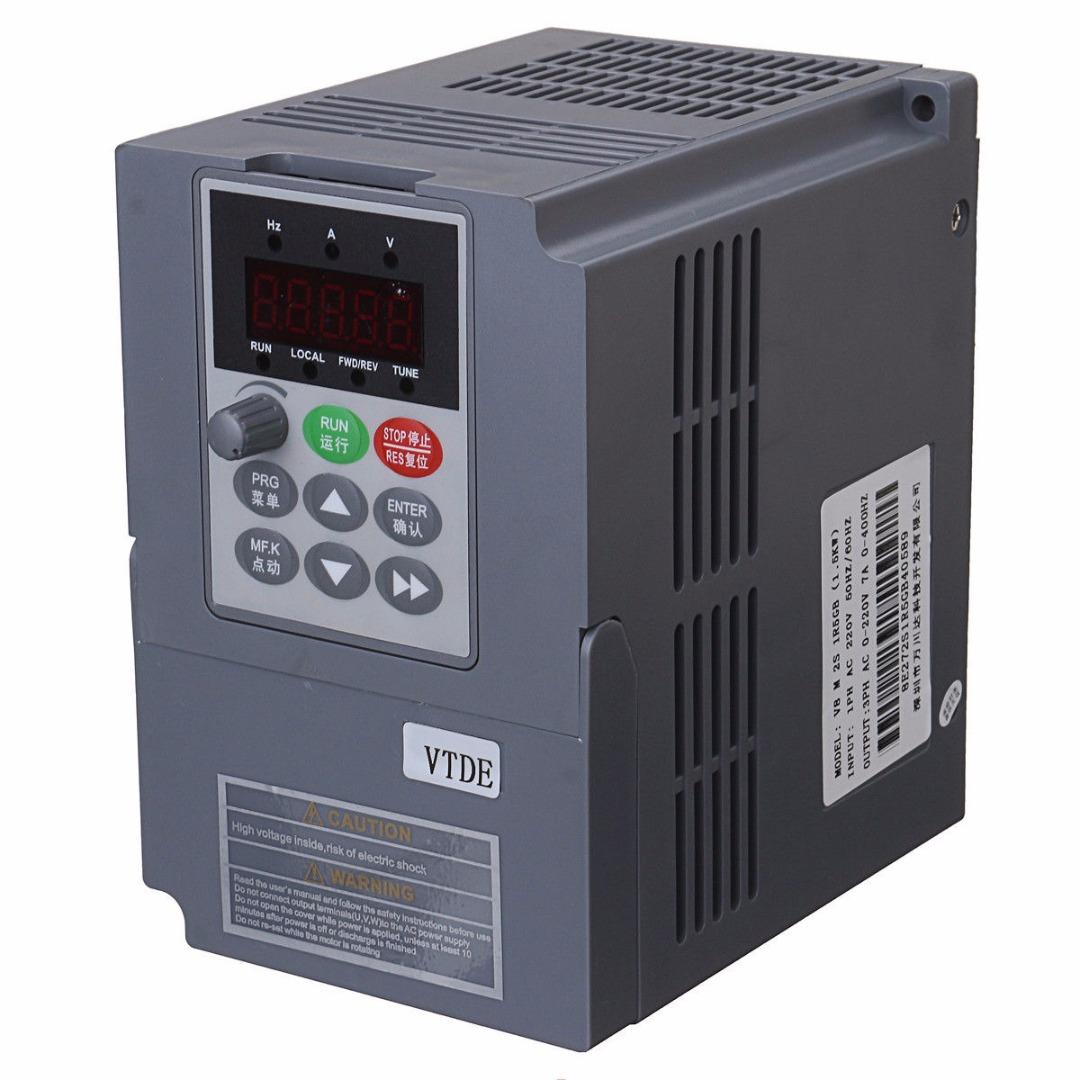 Spindle Motor Speed Control Single Phase Variable Frequency Drive Inverter PWM Control 220V 1.5KW 145*133*97mm Mayitr 10 50v 100a 5000w reversible dc motor speed controller pwm control soft start high quality
