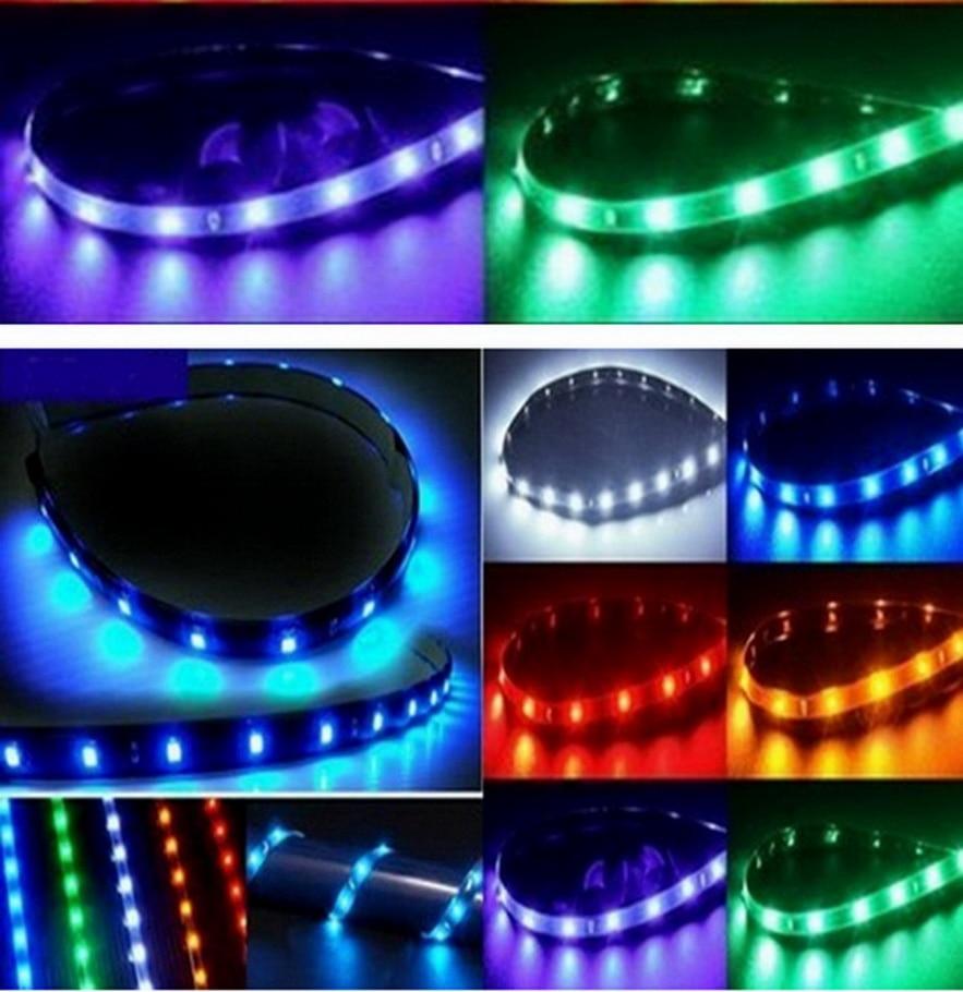 цены на 5 color Waterproof 15 LED 30cm 12V Car Styling white blue red waterproof flexible Car Light Daytime Running Lights Soft Strips в интернет-магазинах