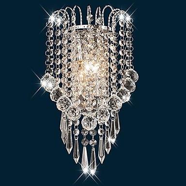 Художественный нержавеющая сталь современный светодио дный светодиодный кристалл настенный светильник Домашнее освещение Настенный бра ...