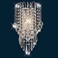 Artistieke Rvs Moderne Led Kristal Wandlamp Home Verlichting Wandkandelaar Lampara Pared Arandela