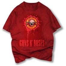 2017 Guns N Roses Summer Cotton Short Sleeved O-neck Print Streetwear Men Tops T-shirt