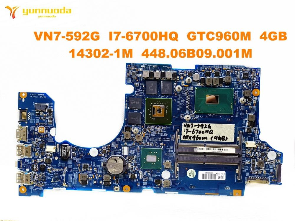 Original for font b ACER b font VN7 592G laptop motherboard VN7 592G I7 6700HQ GTX960M