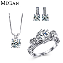 MDEAN white gold plated Jewelry Sets for women wedding jewelry Engagement Fashion Accessories vintage CZ diamond jewelry sets