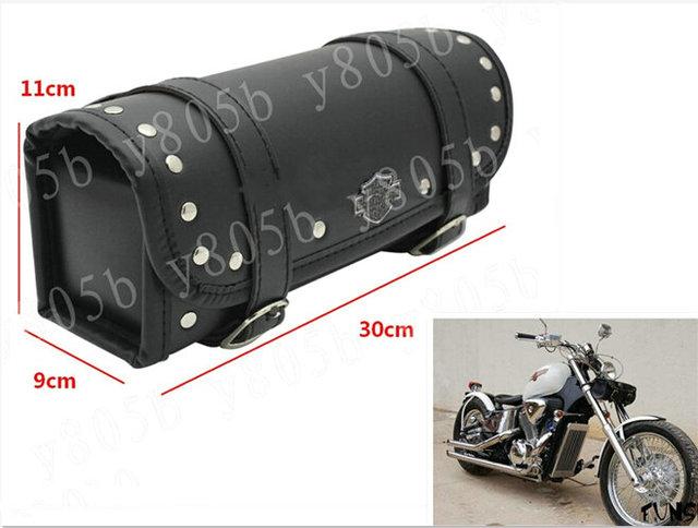Motorcycle Tool Bag Fork Handlebar Buckle Bags For Harley Davidson Sportster Xl883 1200 Dyna Wide Glide