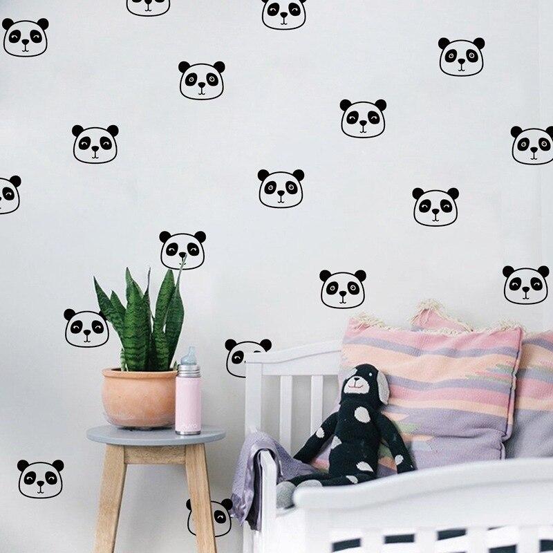 Купить с кэшбэком 18 PCS Cute Panda Wall Sticker Car Sticker Stationery Stickers for Kids Scrapbooking Laptop sticker Room Decals