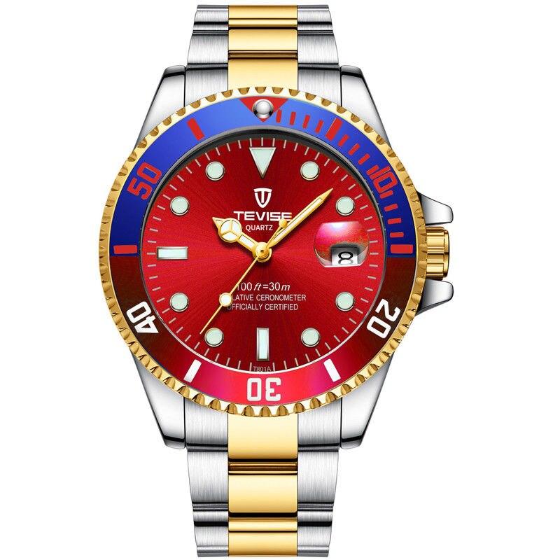 2018 Tevise Brand Men Watch Role Date Fashione luxury Submariner Clock Male Reloj Hombre Relogio Masculino men's gift