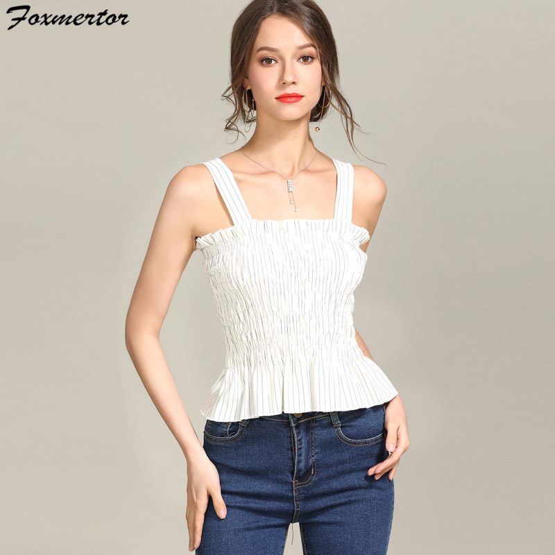 9547bdb2e530c Tank Top Crop Summer New Sexy Off Shoulder Women Sleeveless Ruched Black  White Red Tube Tops Size High Elasticity Thin Waist  11