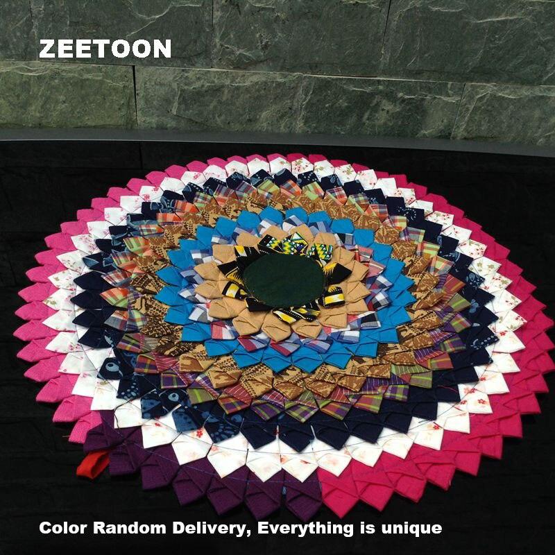 """17\"""" Round Thai Style Cloth Wall Ornament Cushion All Handmade Creative Home Decor Car Chair Sofa Seat Cushion Christmas Gifts"""