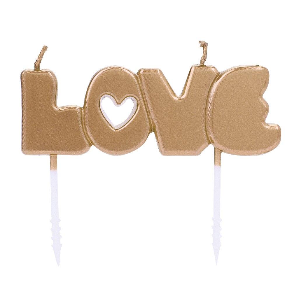 Свечи любовь парафин Буги атмосферу Декор день рождения окружающей среды День Святого Валентина украшения для свадебной вечеринки Подарок на годовщину - Цвет: Gold