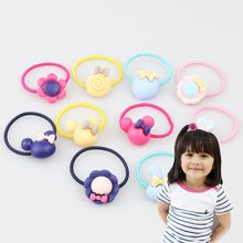 30 pieces new fashion ice cream elastic rubber hair bands girls Floral pigtail headlines cartoon headband mix Elastic rings