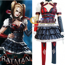 Female Harley Quinn Cosplay Costumes Halloween Costume for Women Full set(Jacket+Waistband+Skirt+Pants+Armcovers)Custom Made