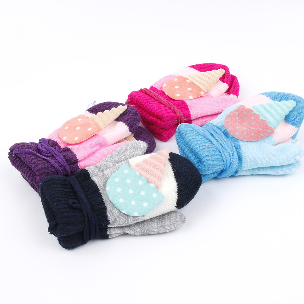 New Winter  glove  cute cold children outdoor thickening knitting gloves