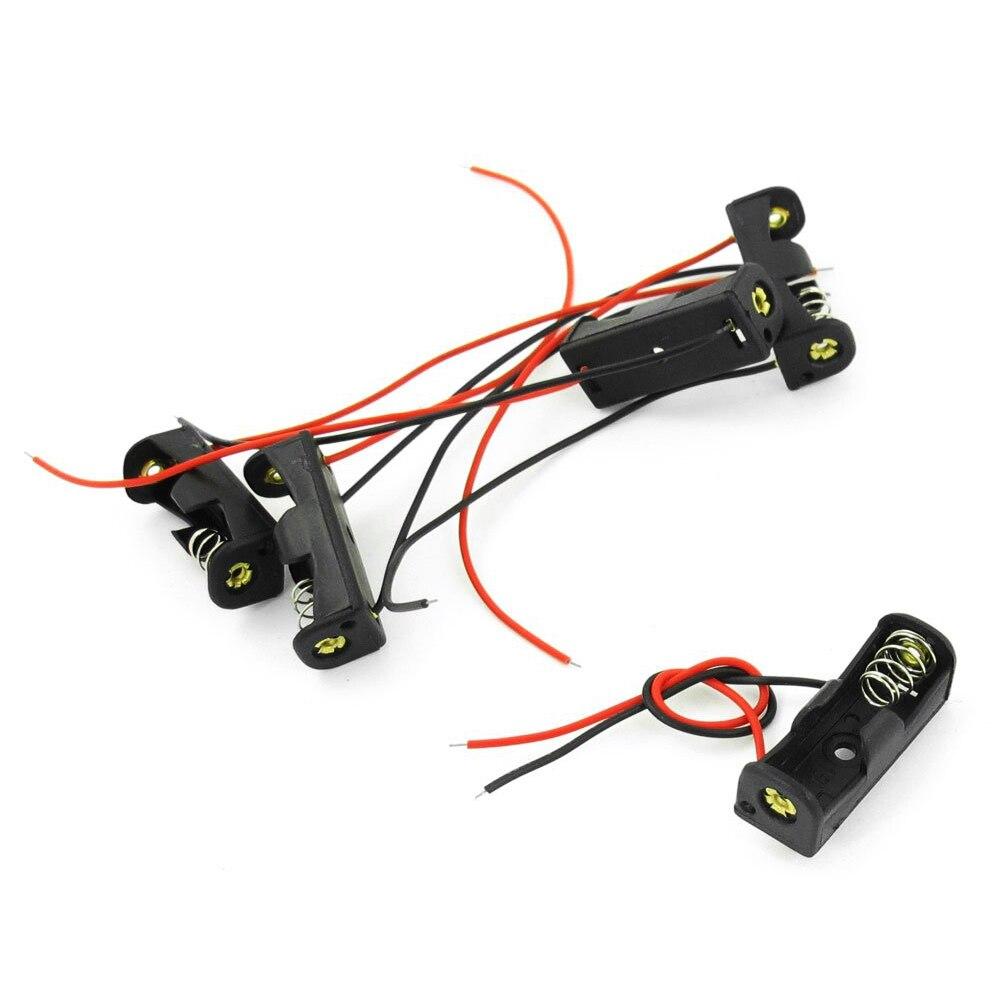 EDT-5pcs 4.3&#8243; Wire Leads Black <font><b>Battery</b></font> Storage Slot Holder 1 x <font><b>12V</b></font> 23A/<font><b>27A</b></font>