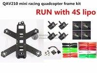 DIY FPV Mini Race Drones QAV210 ZMR210 Quadcopter Pure Carbon Frame Kit NAZE32 EMAX 2204II KV2300