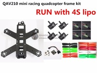 DIY FPV Mini Race Drones QAV210 ZMR210 Quadcopter Pure Carbon Frame Kit NAZE32 EMAX 2204II KV2300