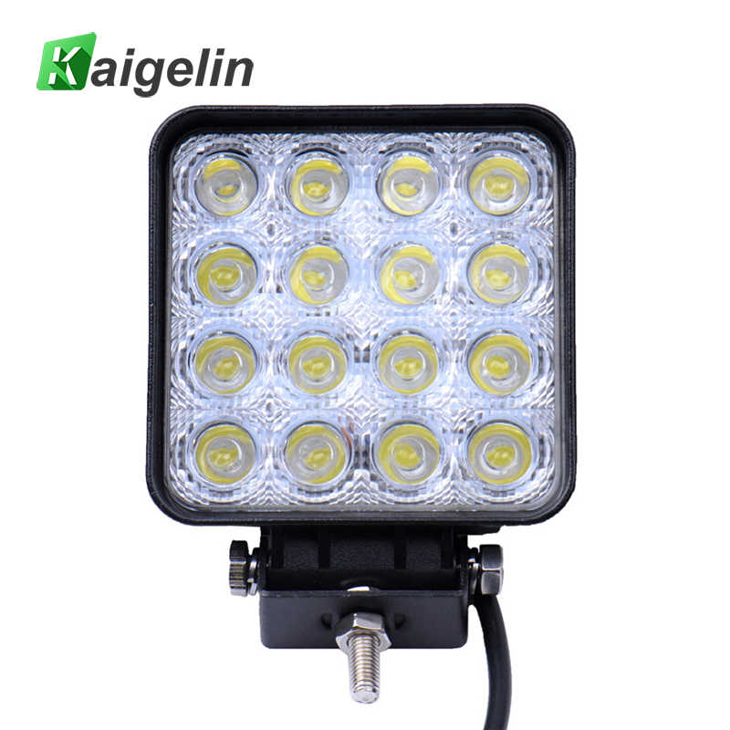 10 Pieces 48W 16 x 3W Vehicle LED Light Bar Work/Drive Lamp Spot Light for Indicators Motorcycle Driving Offroad Boat Vehicle