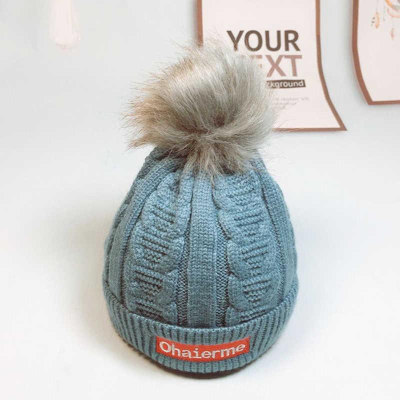เด็กฝ้ายถักหมวกเด็กผู้หญิงหมวกฤดูหนาวน่ารักสำหรับสาวหูหนาหมวกเด็ก Beanies หมวกเด็กสำหรับ 1-3 ปี GH656