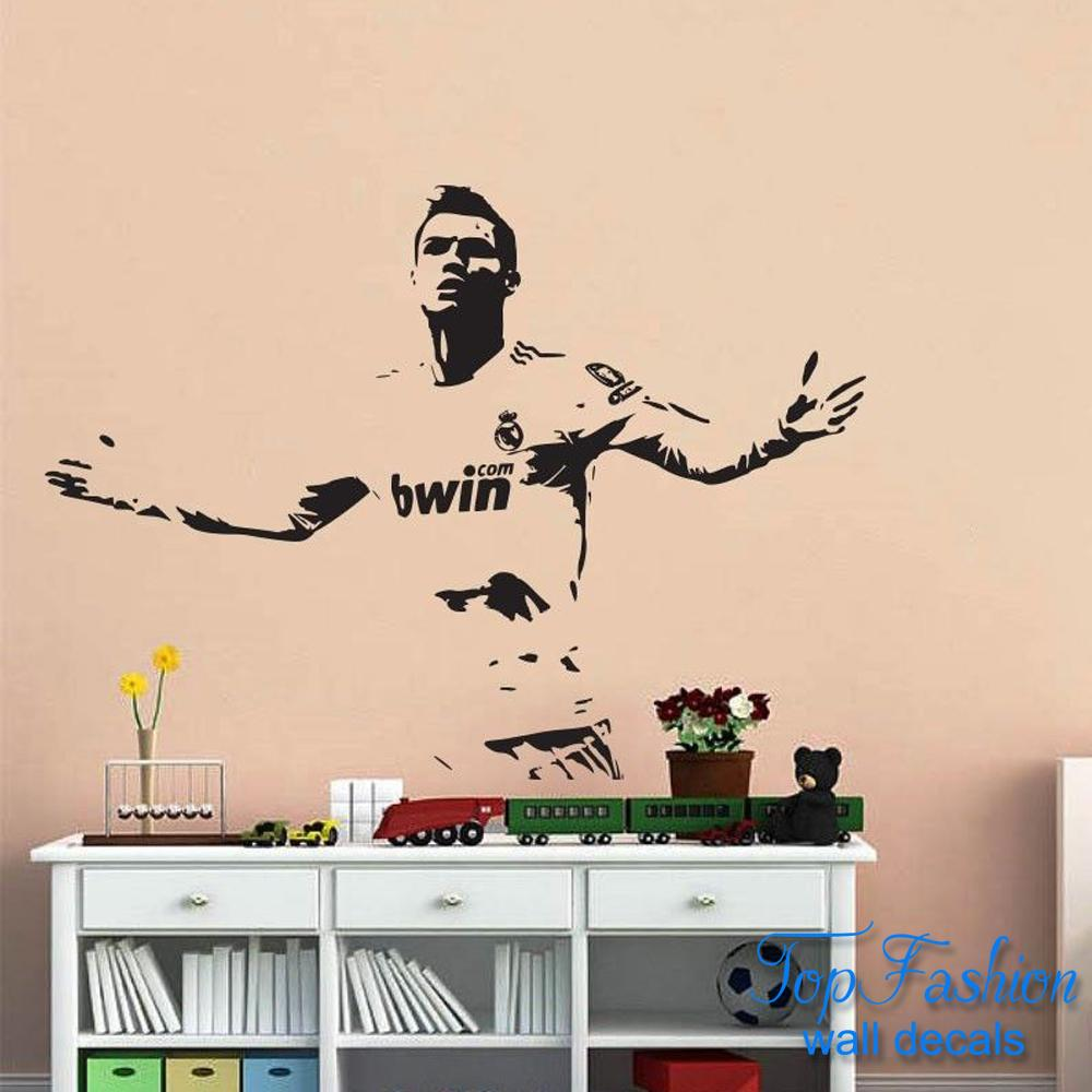 Football player wall stickers images home wall decoration ideas cristiano ronaldo football player wall decals childrens bedroom cristiano ronaldo football player wall decals childrens bedroom amipublicfo Images