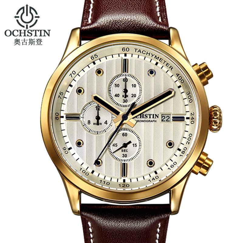 Prix pour OCHSTIN Hommes Montres Top Marque De Luxe Étanche Sport Quartz Chronographe Montre Homme D'affaires Montre-Bracelet Horloge Mâle hodinky