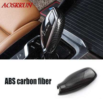 automatic speed gear shift knob head carbon fiber cover car Accessories for <font><b>BMW</b></font> <font><b>x3</b></font> <font><b>g01</b></font> 2017 2018 2019 shifter trim car styling image