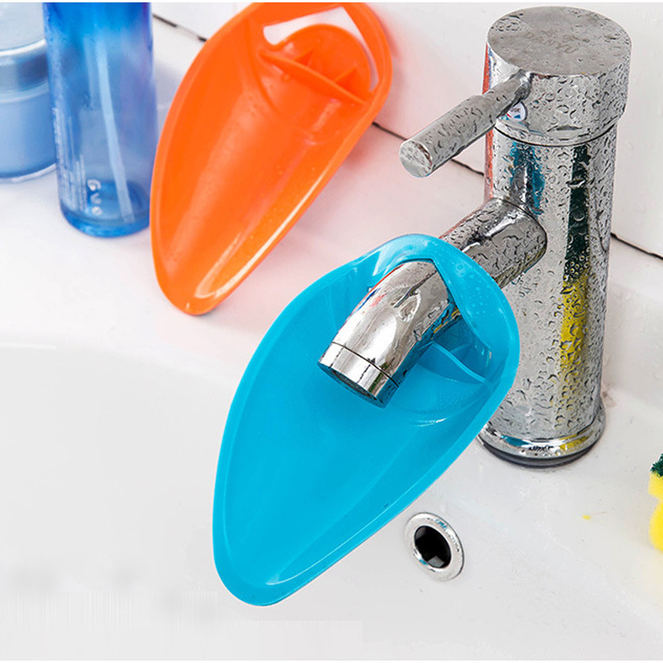 1pcs Bathroom Sink Faucet Chute Extender Children Kids Washing Hands  Silicone Bath Accessories Set Home Supplies Banheiro Holder Part 96