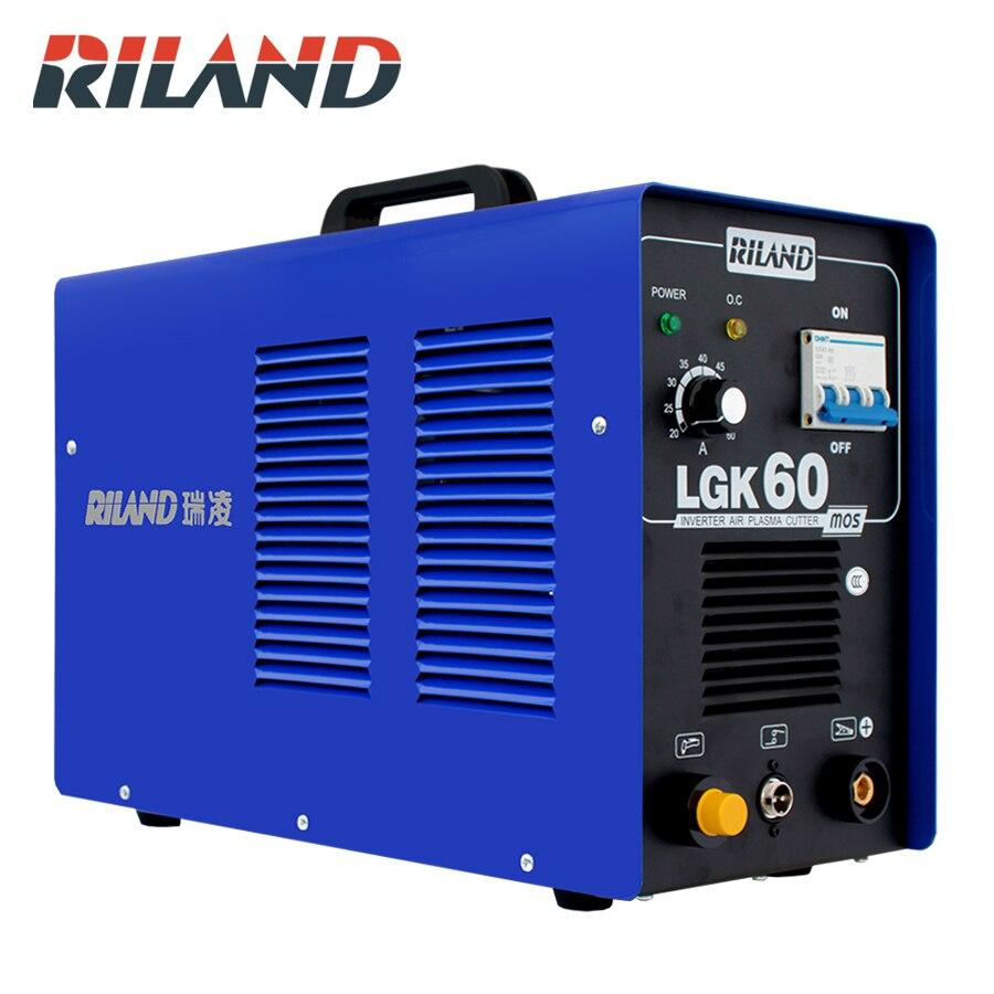 RILAND 380V Three Phase Plasma Cutter Air Plasma Cutting Machine Plasma Cutter Welder Cutting Thickness 0.3-16mm Clean Cut