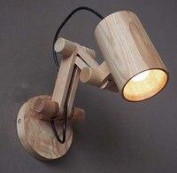Бар катапульты форма ретро деревянные бра для кафе домашней студии старинные настенные бра читальный зал диван угловой светильник