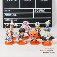 Free Shipping Anime One Piece Thriller Bark Zombies Afusaromu Jgoroh Q Version PVC Action Figures Toys
