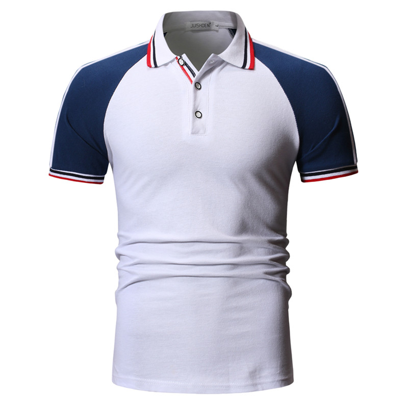 Polo shirt men 39 s high quality cotton raglan sleeves large size S XXXL design multicolor summer casual short sleeved polo shirt in Polo from Men 39 s Clothing